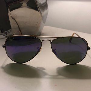 Ray Ban Flash Lenses Purple